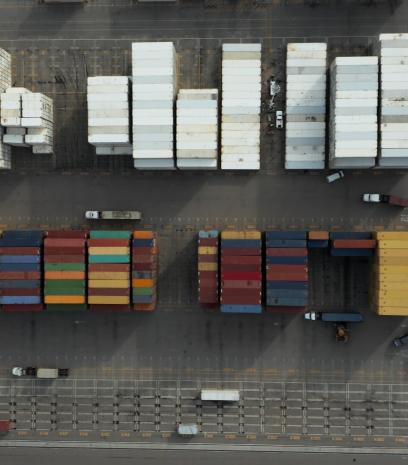 Container hub arial view